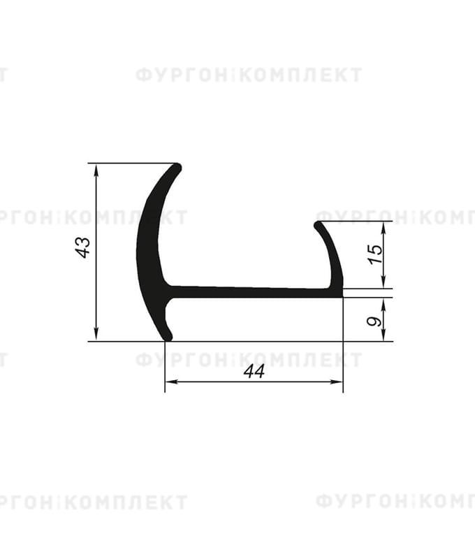 Уплотнитель резиновый → 44мм