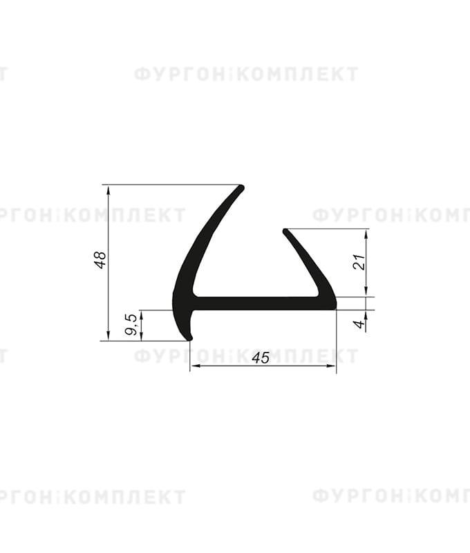 Уплотнитель резиновый → 45мм