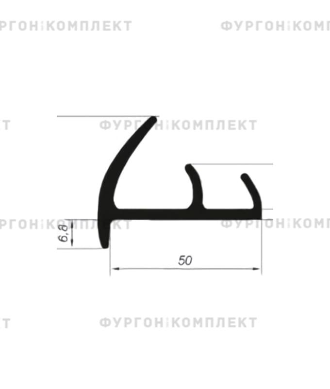 Уплотнитель резиновый → 50мм (2лепестка)