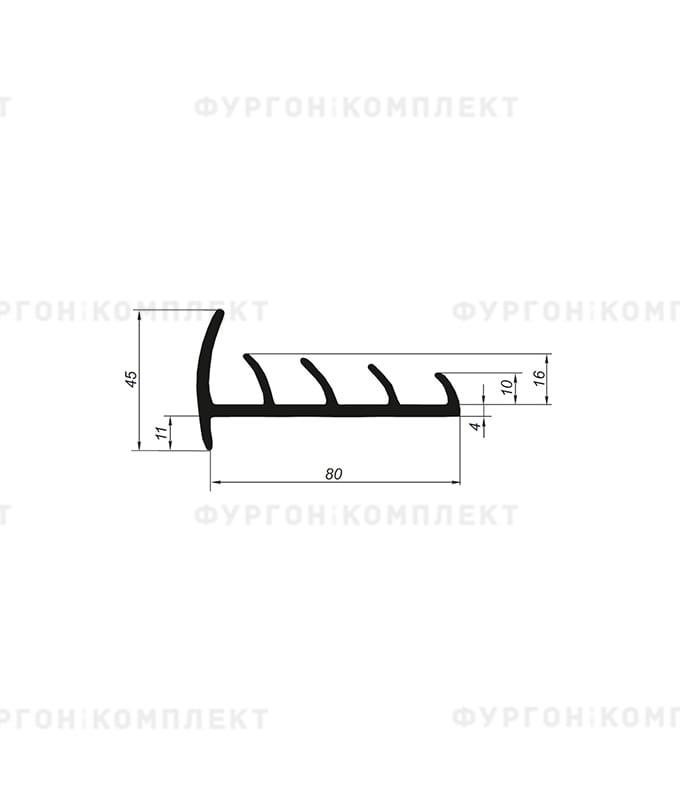 Уплотнитель резиновый → 80мм (4лепестка)
