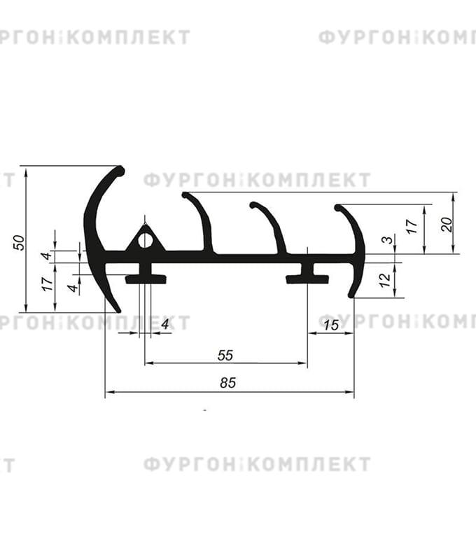 Уплотнитель резиновый (размер 85 мм)