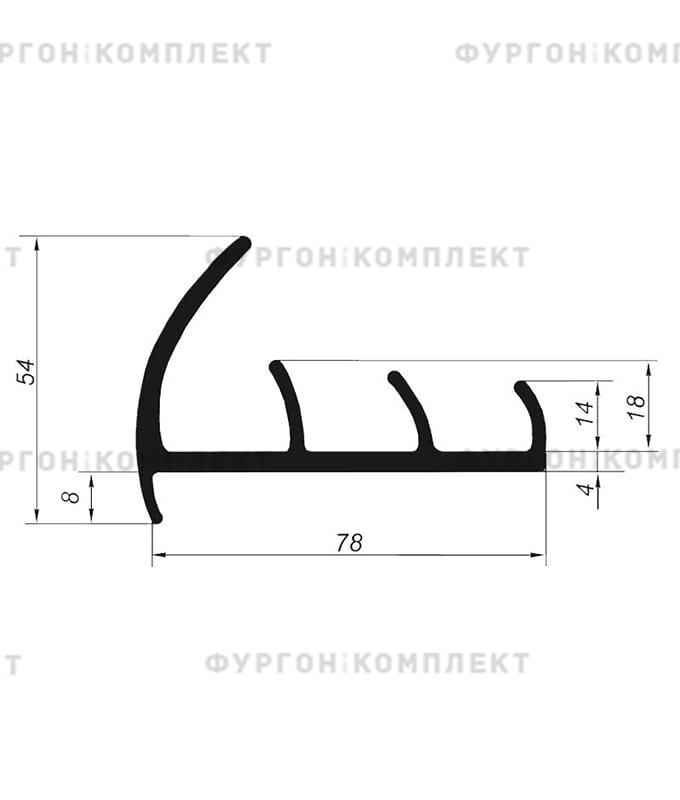 Уплотнитель резиновый (размер 78 мм)
