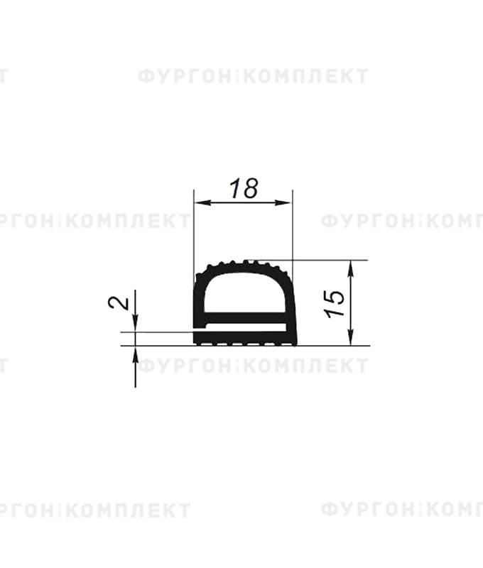 Уплотнитель резиновый KRONE (размер 18мм)