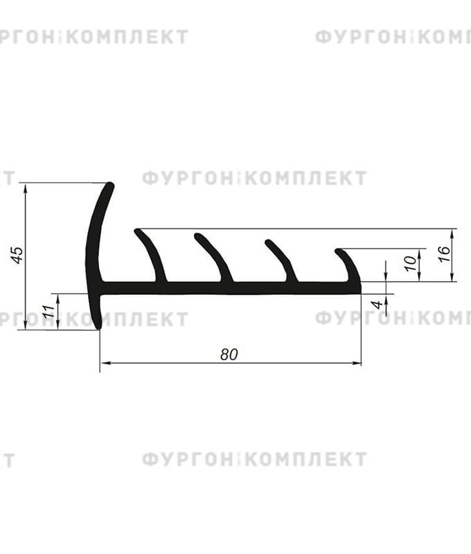 Уплотнитель резиновый (размер 80 мм)
