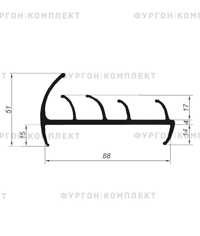 Уплотнитель резиновый (размер 88 мм)