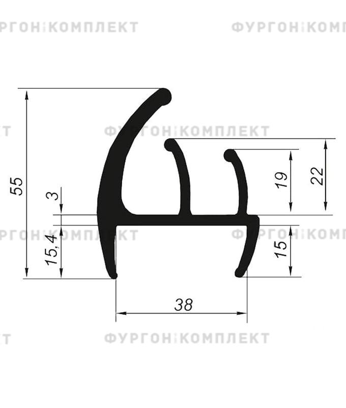Уплотнитель резиновый (размер 38 мм)