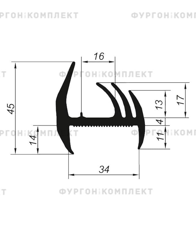 Уплотнитель резиновый (размер 34 мм)
