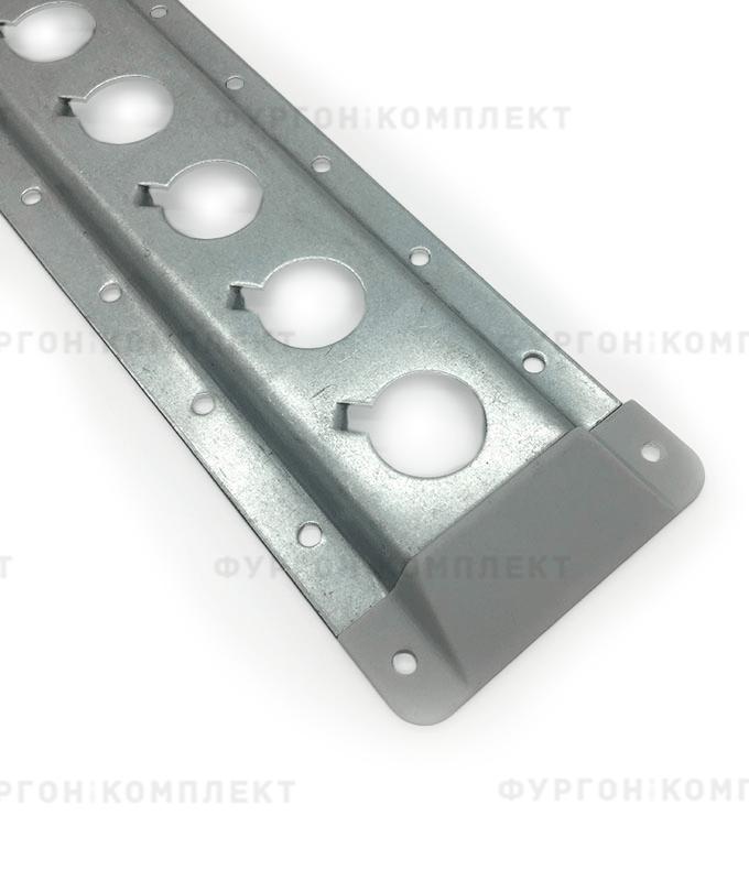 Заглушка торцевая для стальной рейки ТРС70-2 (пластик)