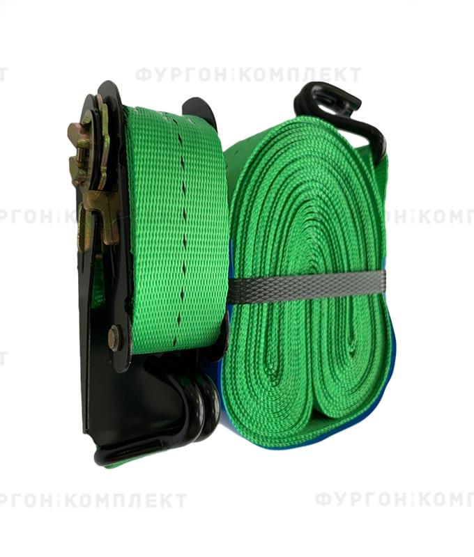 Зелёный стяжной ремень скрюками